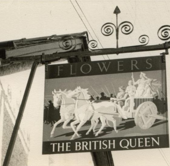The Britsh Queen Sign during the 1950s