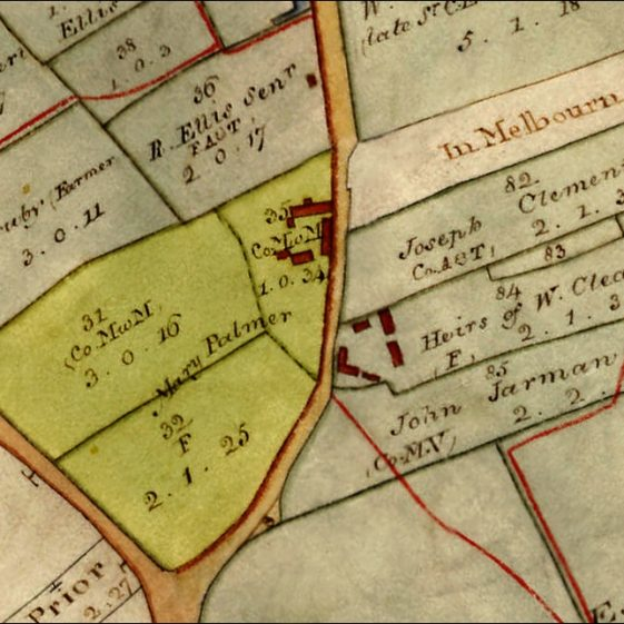 1820 Enclosure Map - Blacks highlighted in pale yellow | Cambridgeshire Archives croc.ma.Q_RDc34
