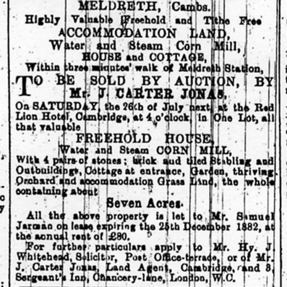 Sale advertisement, June 1879 | Cambridge Chronicle