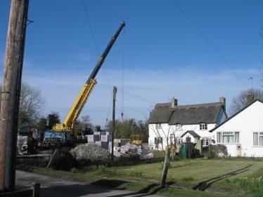 Work on the barn extension is underway | Tim Gane