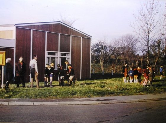 Village Hall Cubs and Brownies tree planing | Meldreth W.I.