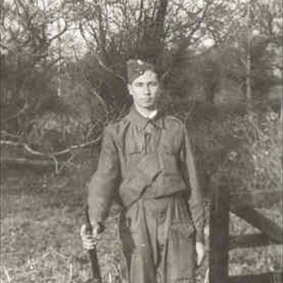 Raymond Course in his Home Guard uniform during WW2 | Photograph supplied by Raymondn Course