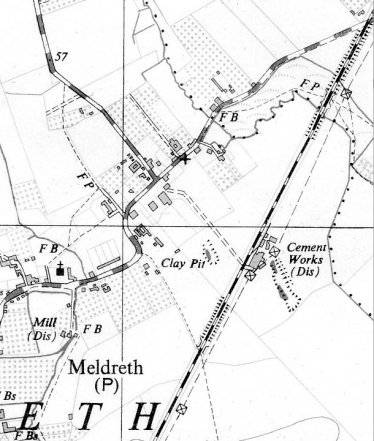 The site of the Cam Portland Cement Works   Ordnance Survey, 1956 (provisional edition)