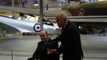 Don Chinery being awarded the Légion d'Honneur at Duxford in 2016 | Photograph by Tim Gane