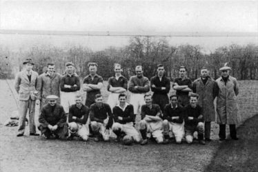 Meldreth Football Club players in the 1940s. Don is on the back row, fifth from the left | Photograph supplied by John Sims