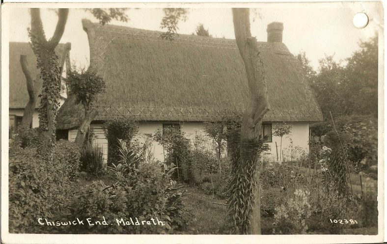 102381 Chiswick End, Meldreth [Chestnut Cottage] | Bell's postcard supplied by Ann Handscombe
