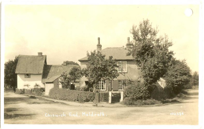 102384 Chiswick End, Meldreth [Junction with Whitecroft Road] | Bell's postcard supplied by Ann Handscombe