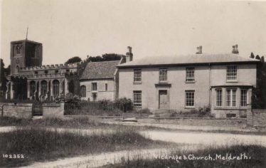Meldreth Church and Vicarage | Bell's Postcard supplied by Joan Gane