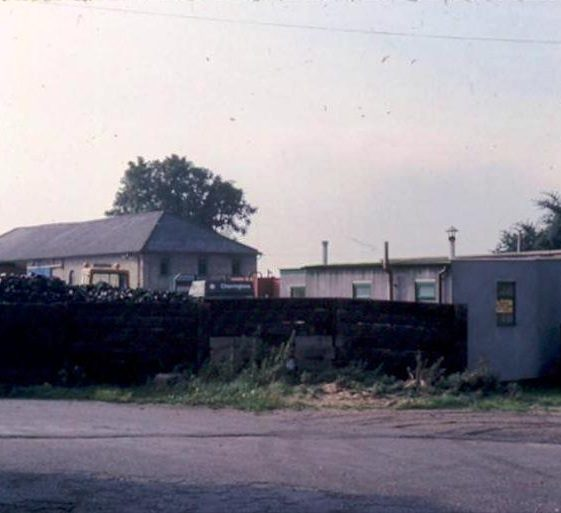 Charrington's coal yard and office in Railway Station entrance, High Street, Meldreth.  1976 | Photo supplied by Ann Handscombe