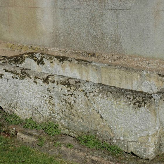 The Roman Coffin which is now in Holy Trinity churchyard | Photograph by Kathryn Betts in 2009