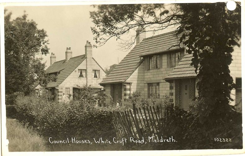 102388 Council Houses, Whitecroft Road, Meldreth | Bell's postcard supplied by Ann Handscombe