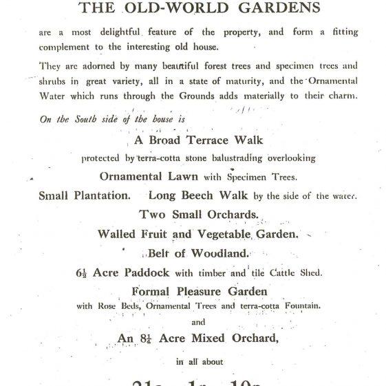 Sale Particulars, 1916