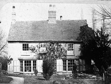 The southern side of the old Vicarage house, built by Richard Willowes c. 1700 and pulled down about 1878. | Copyright Cambridge Antiquarian Society