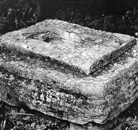 The base of a cross which was found in a garden | Copyright Cambridge Antiquarian Society