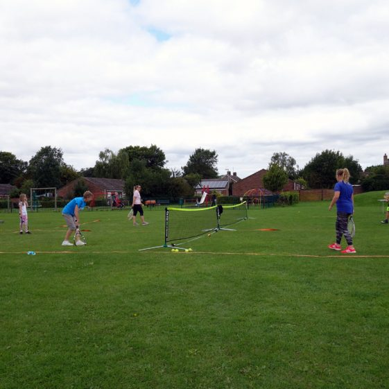 Activities on the recreation ground as part of the re-opening of the tennis courts, 12th August 2017 | Photograph by Kathryn Betts