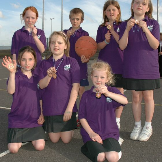 Meldreth Primary School Netball Team, 2006 | Photograph by Kathryn Betts