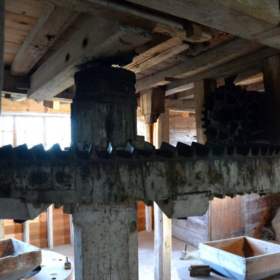 First floor: the great spur wheel, December 2013 | Photograph by Kathryn Betts