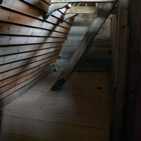 Second floor: grain bins, December 2013   Photograph by Kathryn Betts