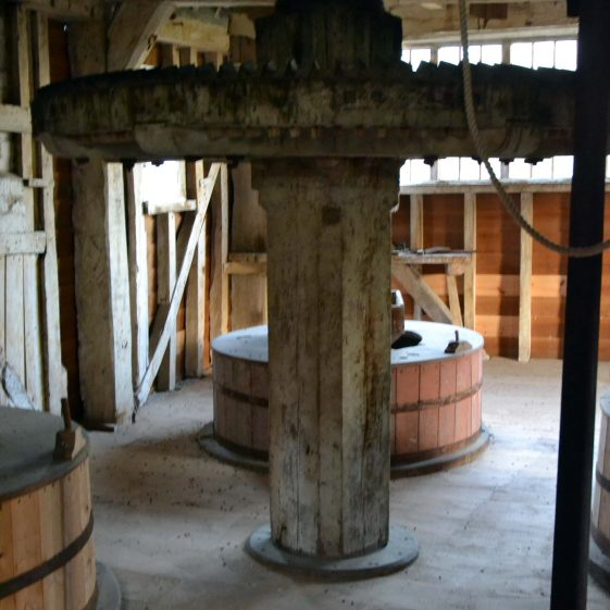 First floor: the vertical shaft and spur wheel | Photograph by Kathryn Betts