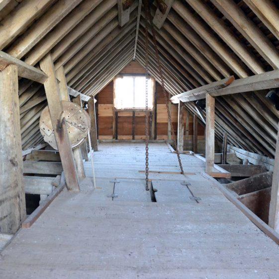 Third floor: the attic floor, December 2013   Photograph by Kathryn Betts