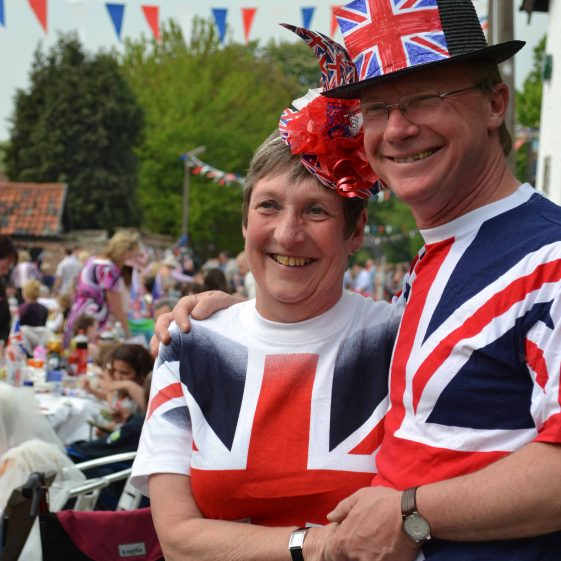 Jan and Pete Butchers dressed for the occasion! | Photograph by Laura Betts