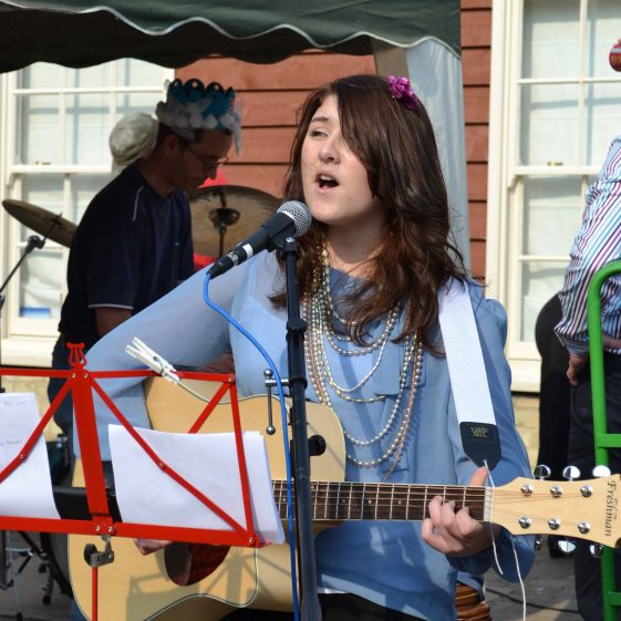 Sarah Louise performed at the street party | Photograph by Laura Betts