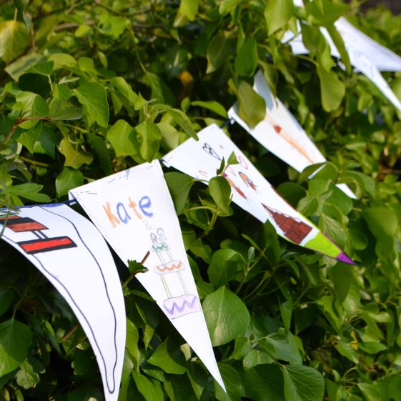 Home-made bunting | Photograph by Laura Betts