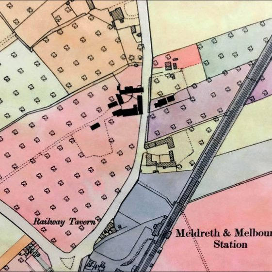 1910 Land Values Map - surrounded by orchards | Cambridgeshire Archives: croc.ma.LVD.Meldreth