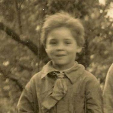 Dennis Pepper pictured at Meldreth Primary School in 1928   Photograph supplied by Ann Handscombe
