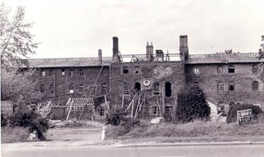 The Workhouse, Baldock Road, Royston, under demolition in 1972. The School Attendance Officers may have been based here. | gallery.nen.gov.uk