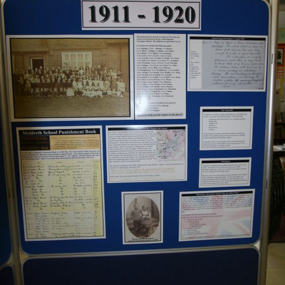 Display on the history of the school: 1911-1920