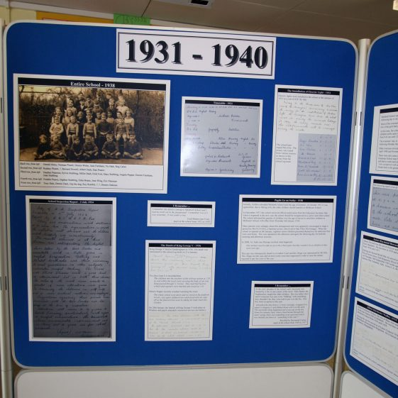 Display on the history of the school: 1931-1940
