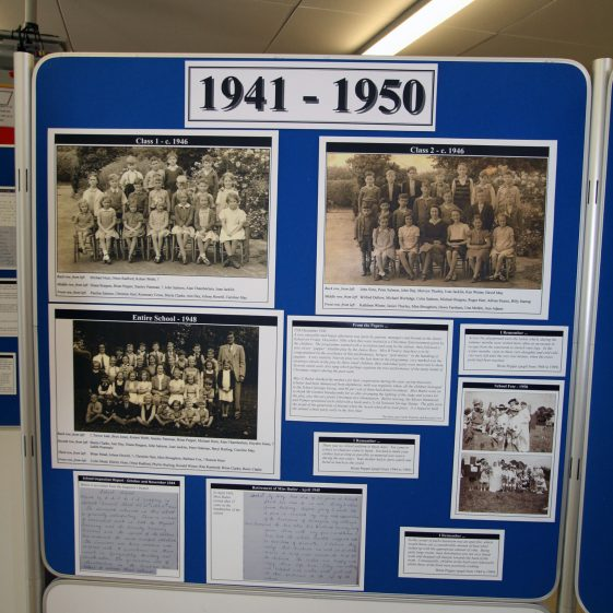 Display on the history of the school: 1941-1950
