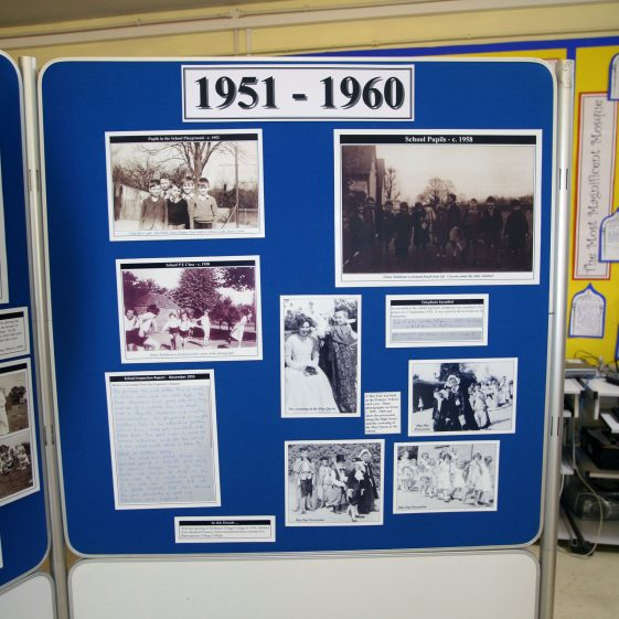 Display on the history of the school: 1951-1960