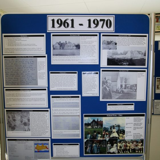 Display on the history of the school: 1961-1970 part 1