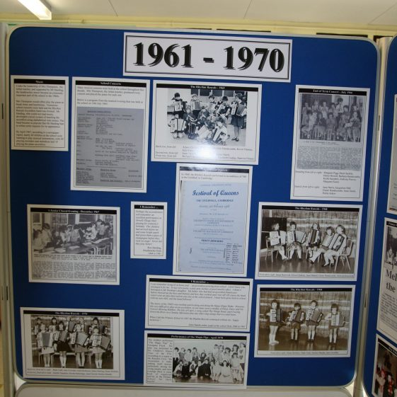 Display on the history of the school: 1961-1970 part 2