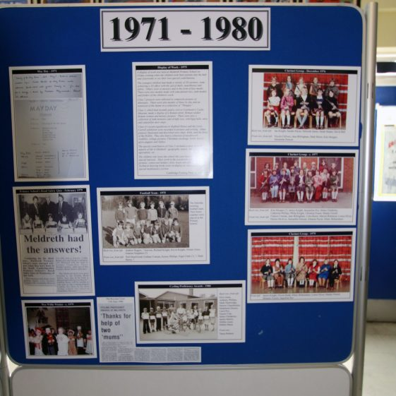 Display on the history of the school: 1971-1980