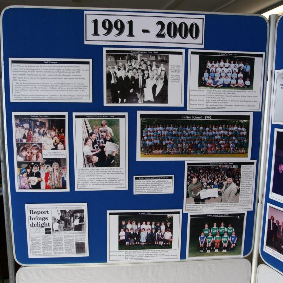 Display on the history of the school: 1991-2000