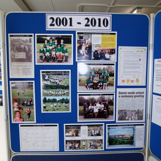 Display on the history of the school: 2001-2010