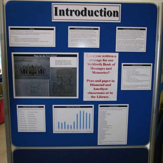 Display on the history of the school: introduction
