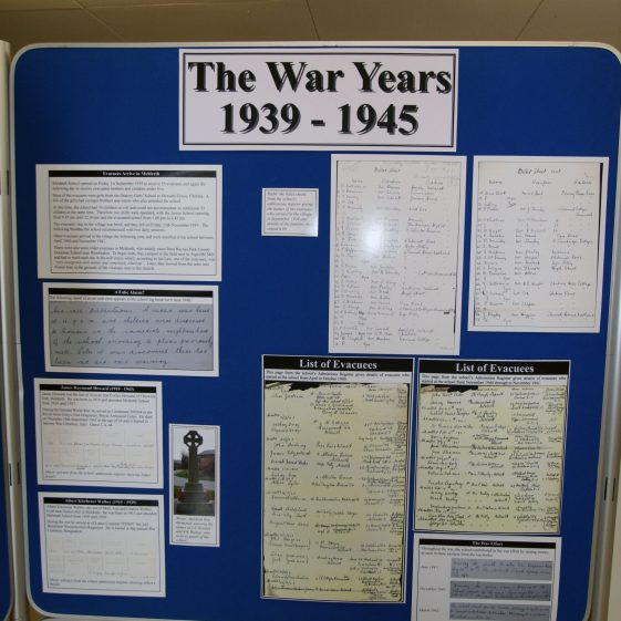 Display on the history of the school: 1939-1945