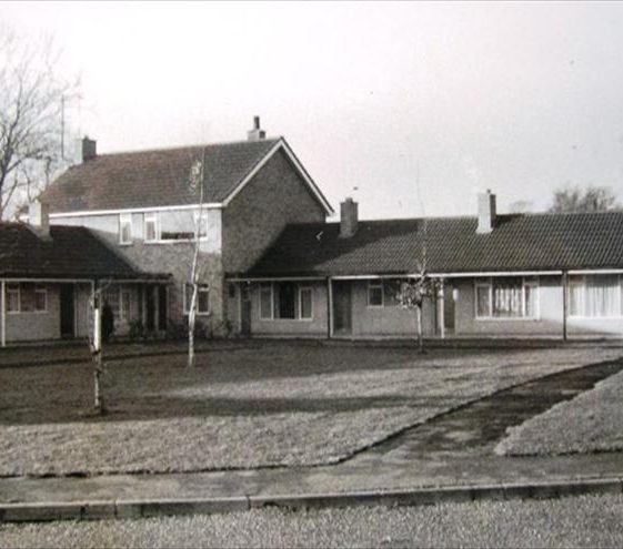 The warden-controlled bungalows photographed in 1974   Photograph supplied by Alison Chalkley