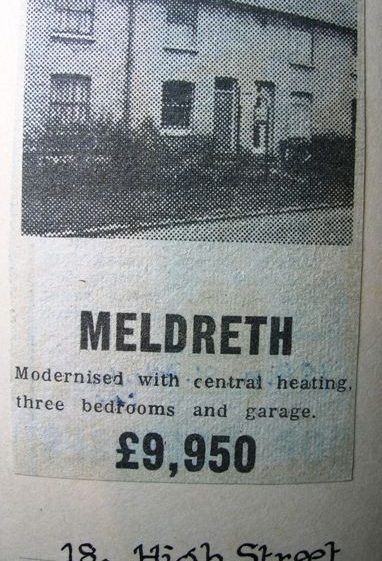 Example of house prices in Meldreth in 1977 | Meldreth W.I.