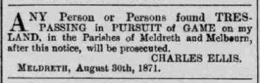 The Ellis Family | The Cambridge Chronice and Journal, 2nd September 1871