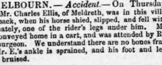 Accidents to Mr Charles Ellis