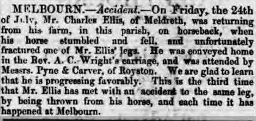 Accidents to Mr Charles Ellis
