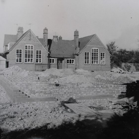 Work on the new extension | Photograph courtesy of Meldreth WI