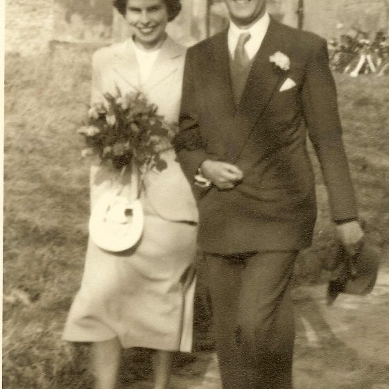 The wedding of Mary Adcock and Don Findlay, 1952 | Photograph supplied by Mary Findlay