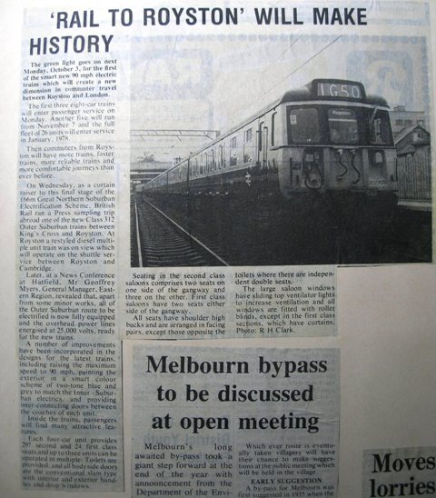 First Train on electrified railway line | Meldreth W.I.