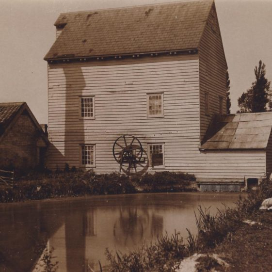 Flambard's Mill, before it was destroyed by fire